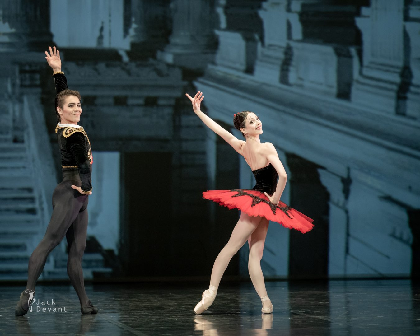 Maia Makhateli and Bakhtiyar Adamzhan in pas de deux from the ballet Don Quixote