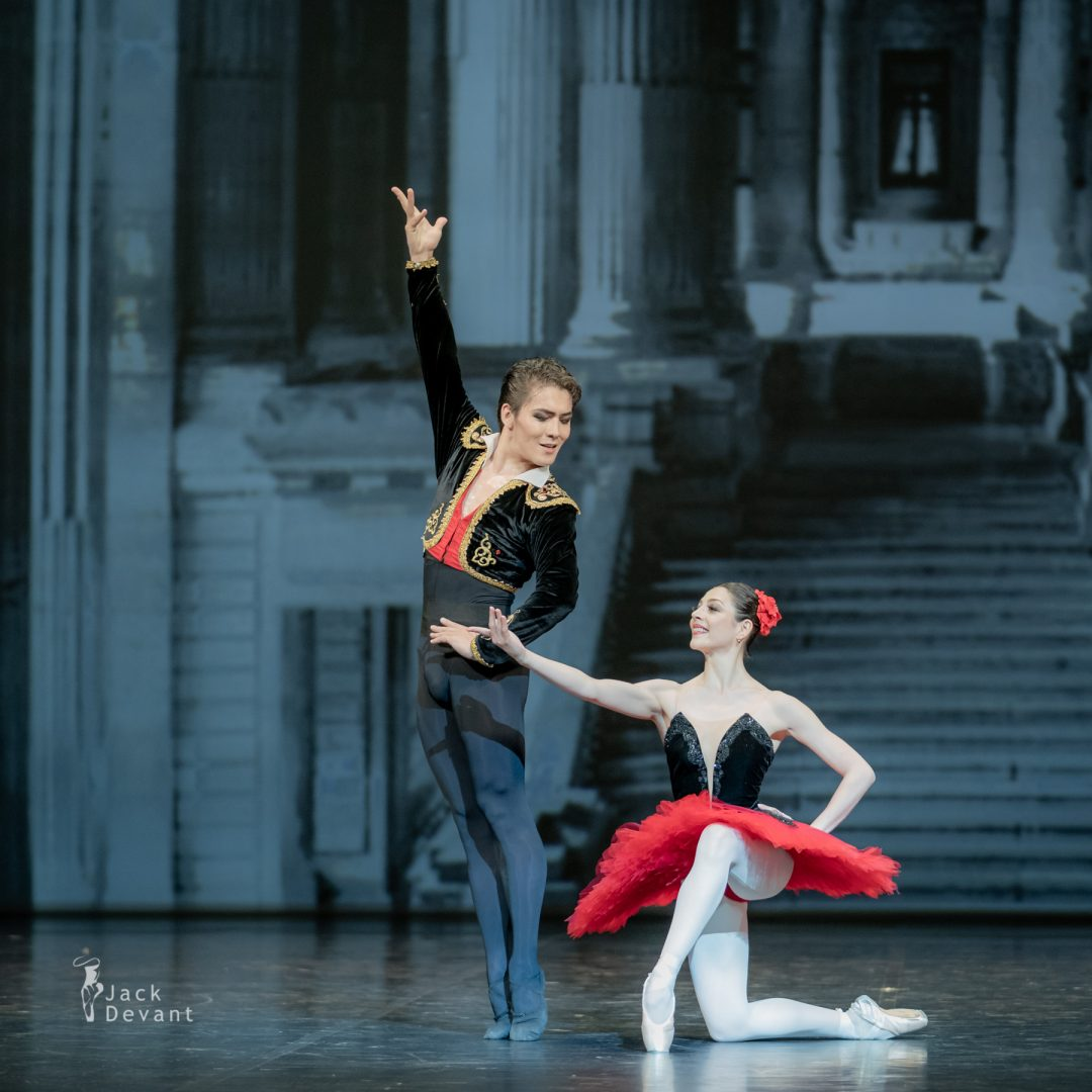 Maia Makhateli and Bakhtiyar Adamzhan in pas de deux from the ballet Don Quixote finale