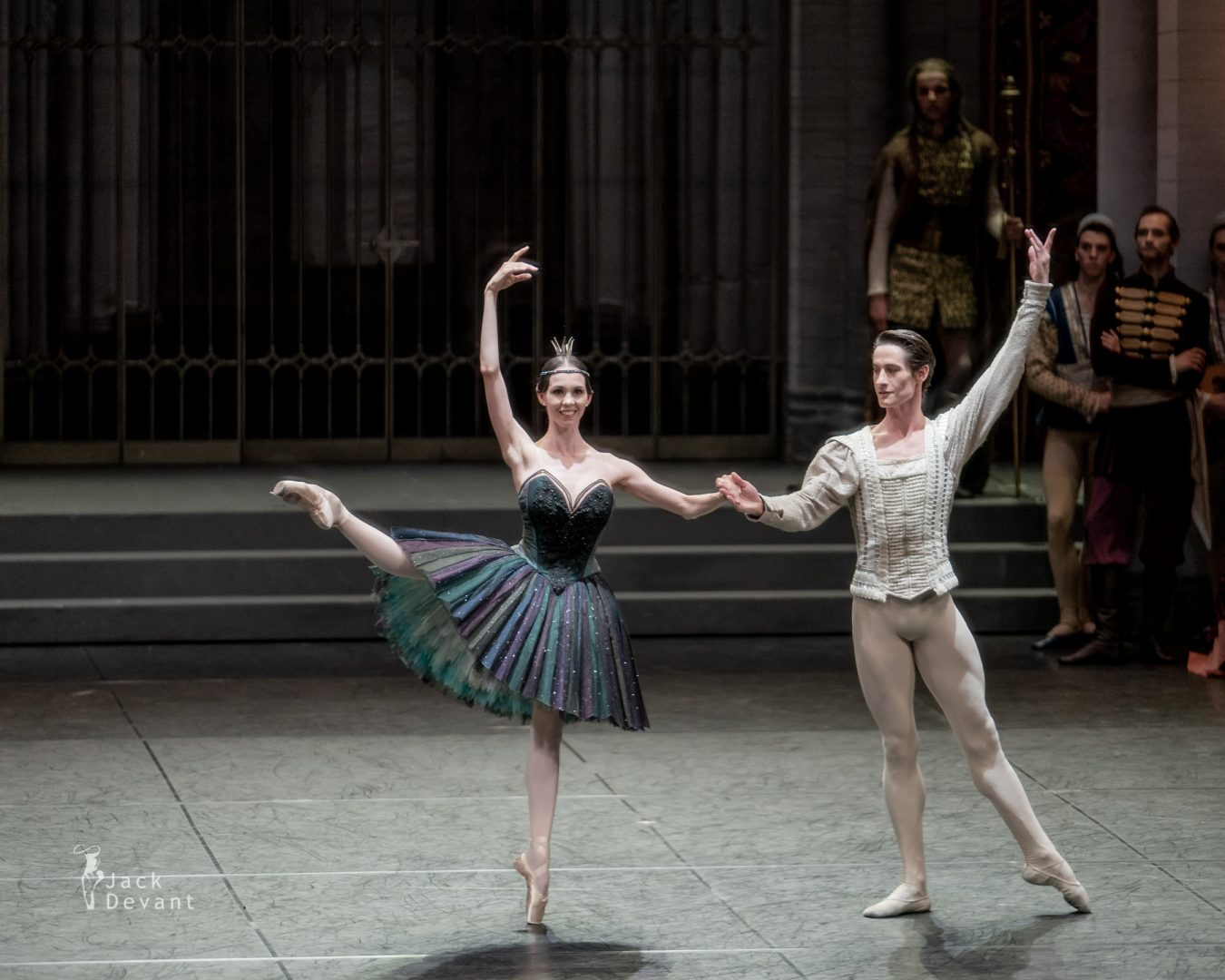 Viktorina Kapitonova and Alexander Jones in Swan Lake act 3 5
