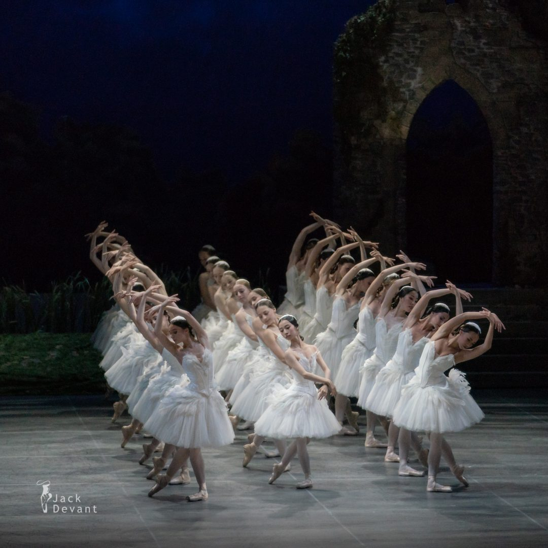 White corps de ballet in Swan Lake act 2