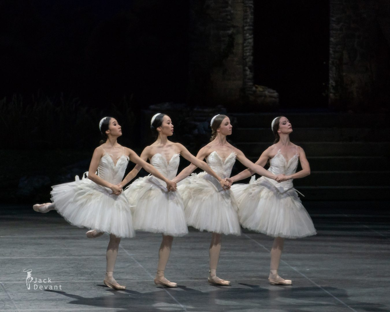 Four Cygnets in Swan Lake act 2 1