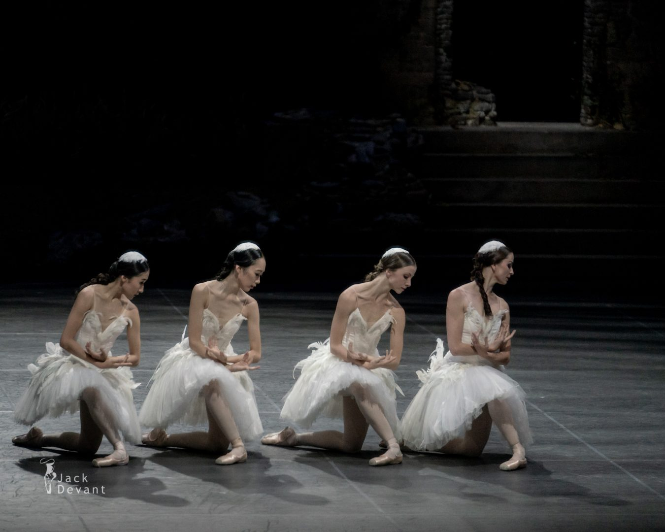 Four Cygnets in Swan Lake act 2 3