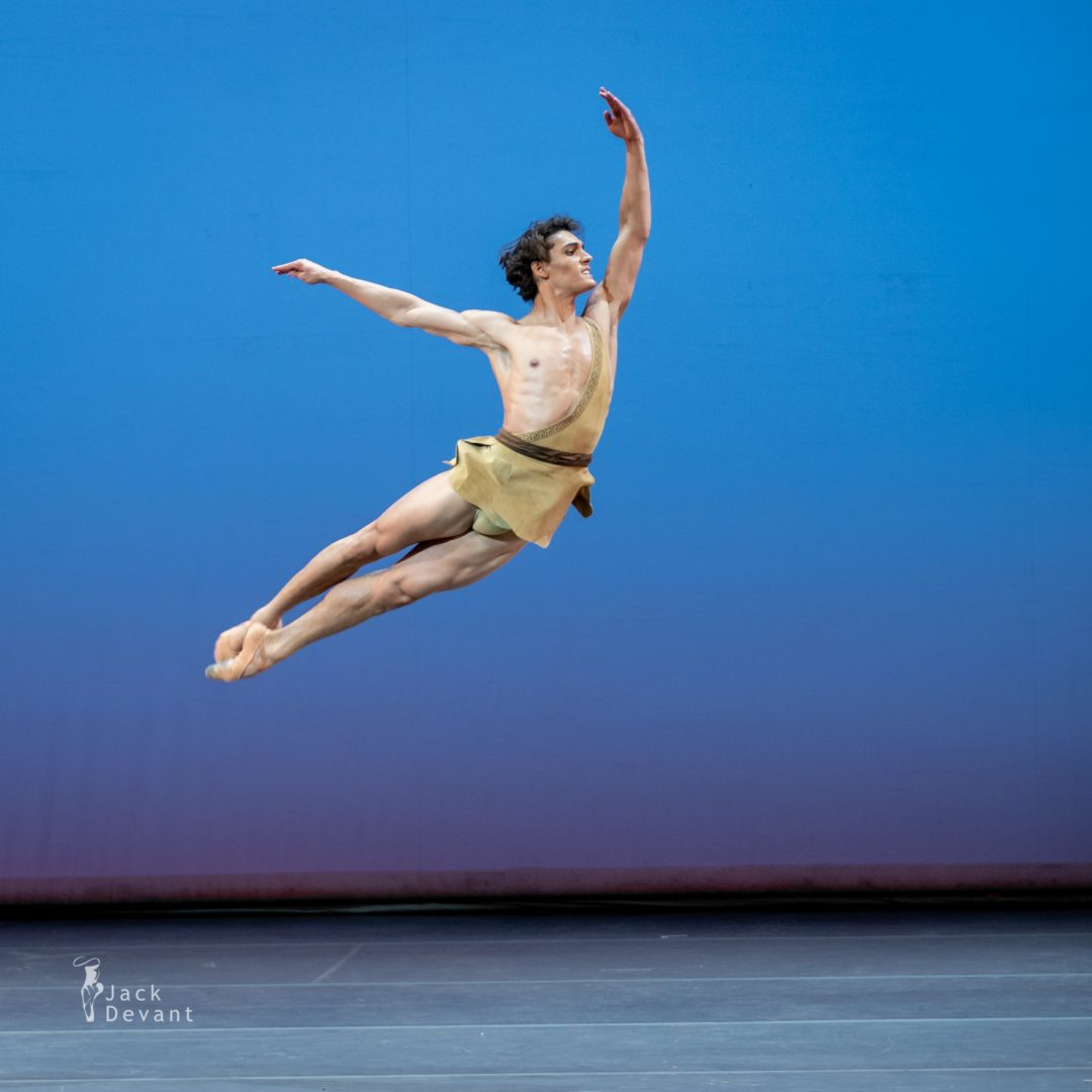 Daniel Camargo in pas de deux of Diana and Actaeon from Esmeralda 1