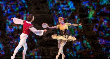 Iana Salenko, Dinu Tamazlacaru and corps de ballet of the Yakobson Ballet Theater in Pas de six from La Esmeralda