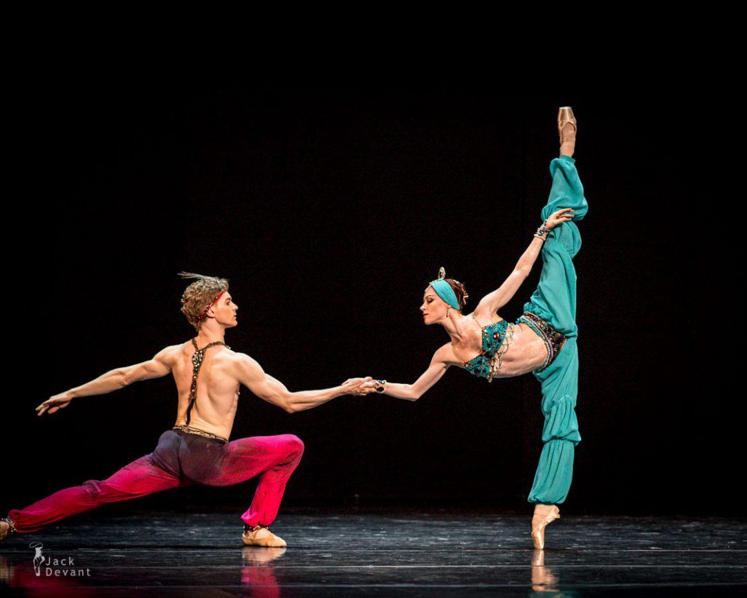 Elena Evseeva and Alexei Timofeev in Le Corsaire pas de deux, music by A Adam, choreo by Marius Petipa