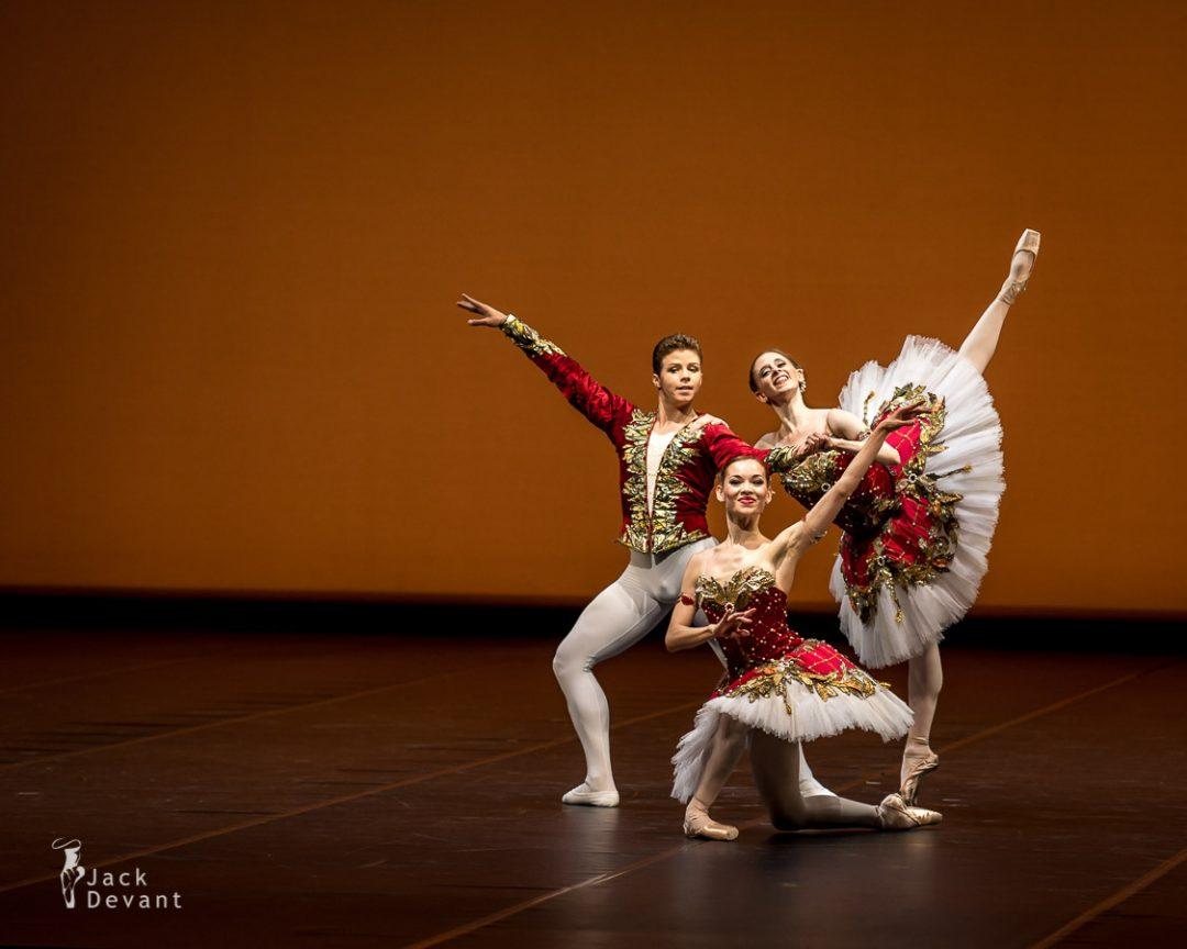 Paquita Pas de Trois (aka Minkus Pas de trois) by Iana Balova, Stephanie Greenwald and Taras Bilenko, choreography by Marius Petipa, 13.09.2013 2013 Season Opening Gala, Staatsballett Berlin.
