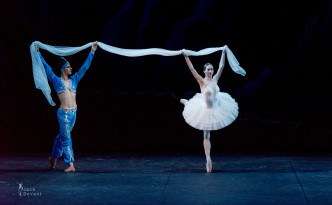 Polina Semionova and Ivan Zaytsev in La Bayadere shades