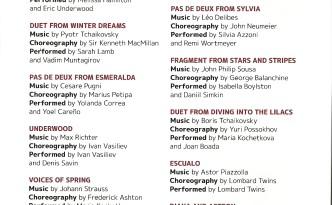 Dance Open Gala 2015 program