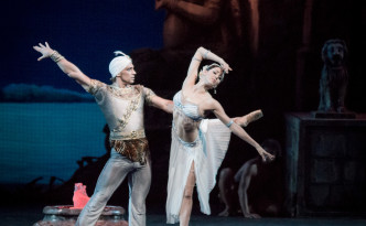 Irina Perren, Ekaterina Borchenko and Ivan Vasiliev in La Bayadere