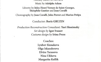 6.10.2015 Giselle in Mariinsky II - program