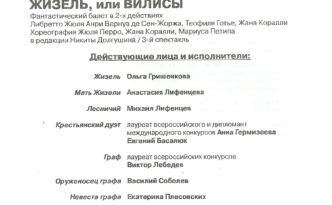 25.5.2016 Giselle in Novosibirsk Opera / NOVAT program