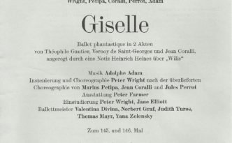 25.9.2016 Giselle, Bayerisches Staatsballett, program