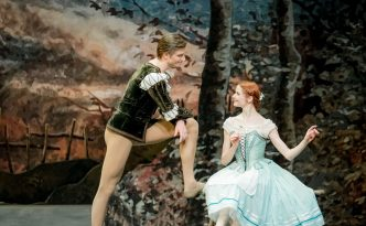 Alena Shkatula, Denis Klimuk and Anatoli Arhangelski in Giselle, Act 1