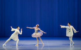 Emily Ward, Matteo Tonolo and Gerardo Avelar in Pas de trois from the Fairy Doll