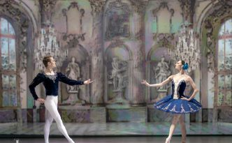 Oxana Skorik (Rus. Оксана Скорик) and Leonid Sarafanov (Rus. Леонид Сарафанов) in Grand Pas Classique