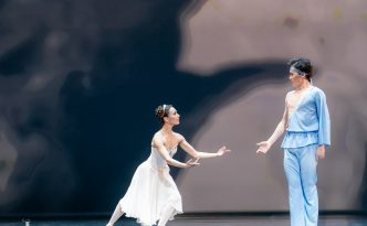 Madina Basbaeva and Erkin Rakhmatullaev in pas de deux from The Talisman