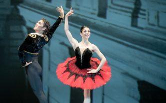 Maia Makhateli and Bakhtiyar Adamzhan in pas de deux from the ballet Don Quixote