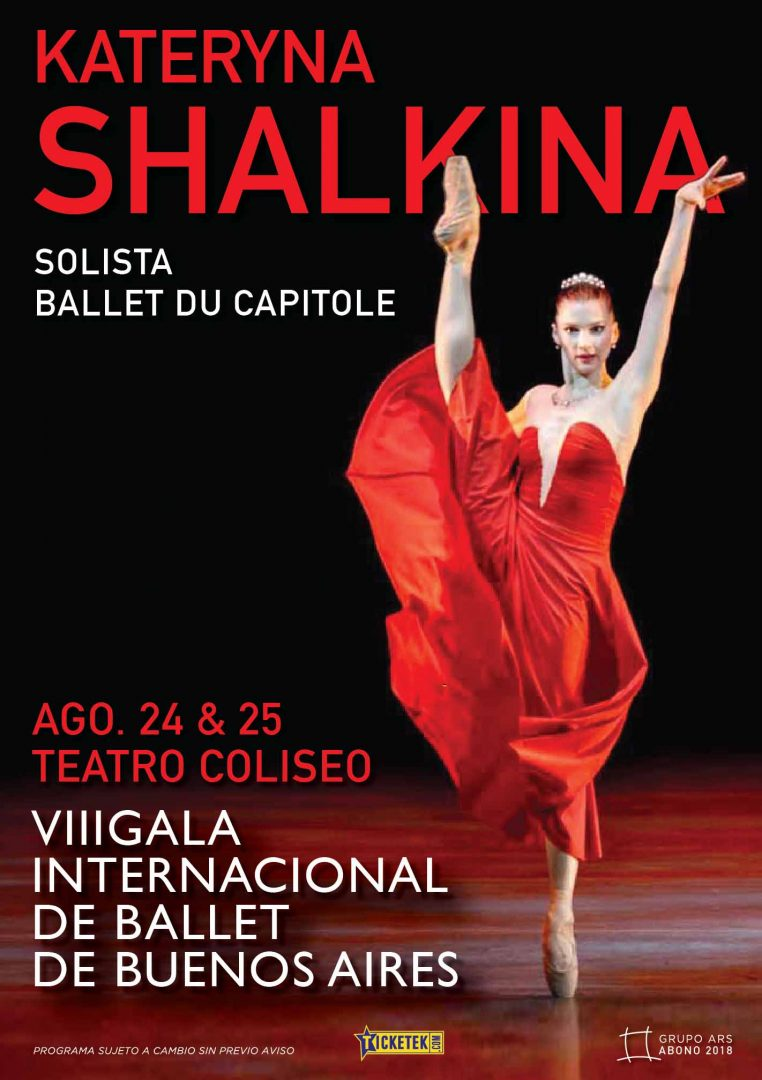 Poster for Kateryna Shalkina for the gala in Buenos Aires