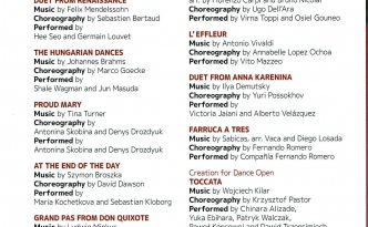 Dance Open 2019 Gala program