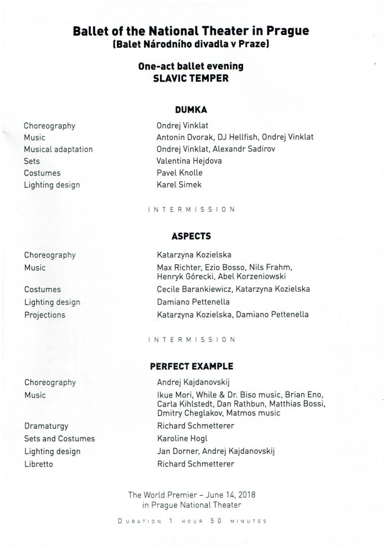 Czech National Ballet, Eurasian Dance Festival 2019, Eurasian Dance Festival