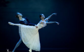 Aliya Tanykpayeva and Leonid Sarafanov in Giselle
