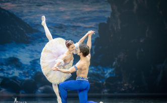 Evelina Godunova and Bakhtiyar Adamzhan in Le Corsaire