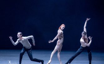 Elena Vostrotina, Cohen Aitchison-Dugas and Dominik Slavkovský in Winterreise