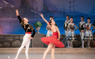 Olga Chelpanova as Kitri and Konstantin Korotkov as Basilio. Don Quixote